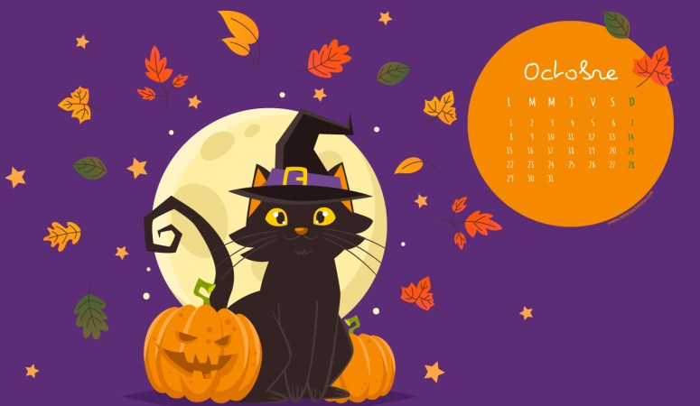 Calendrier d'Octobre 2018 (Freebies & Printable)