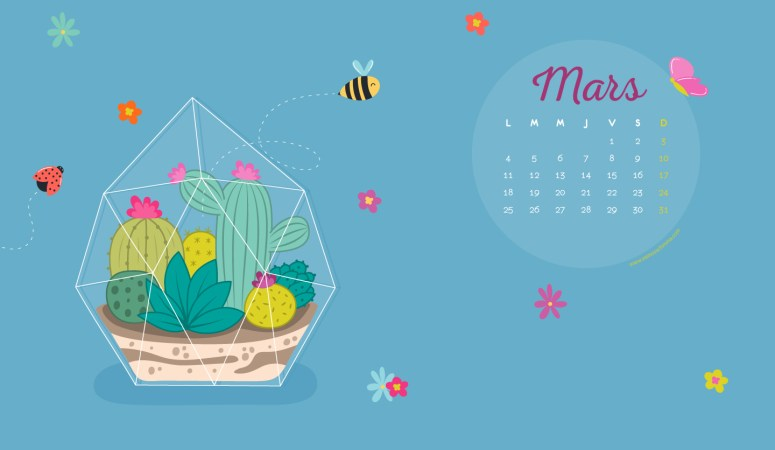 Calendrier de Mars 2019 (Freebies & Printable)