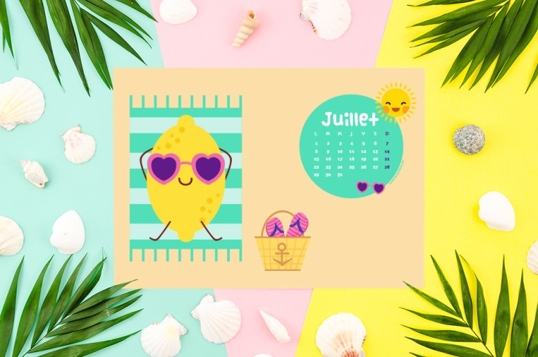 Calendrier de juillet 2019 à télécharger