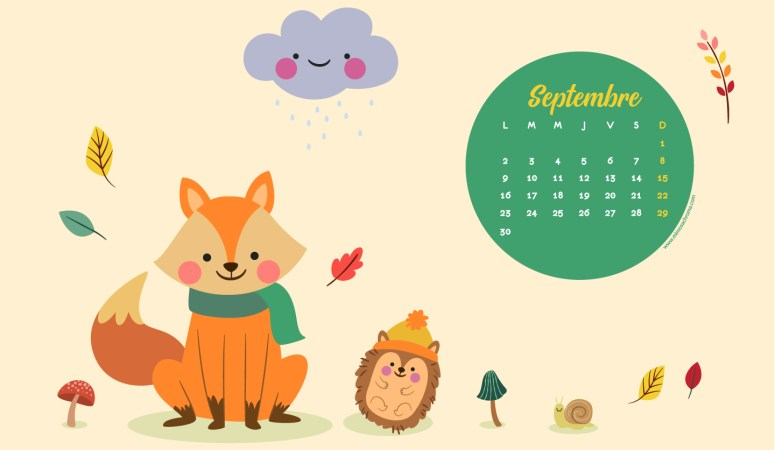 Calendrier de Septembre 2019 (Freebies & Printable)