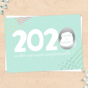 """Carte à gratter annonce grossesse pour bébé 2020 """"La famille va s'agrandir"""", annonce grands-parents"""