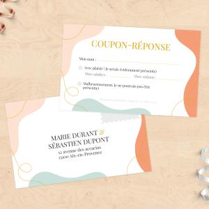 Carton invitation & RSVP - Abstrait