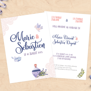 Faire-part de mariage - Collection Provence