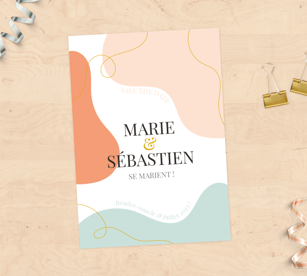 """""""Save the Date"""" Mariage - Collection Abstrait"""