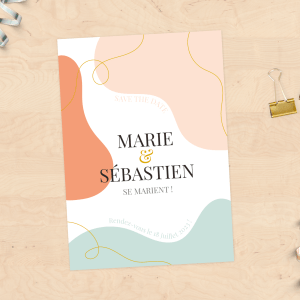 """Save the Date"" Mariage - Collection Abstrait"