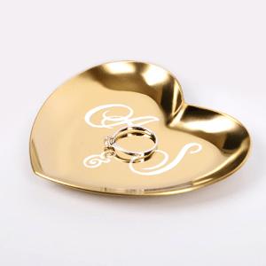 Petit plateau porte bague, range bijoux avec initiales couple - Souvenir de mariage