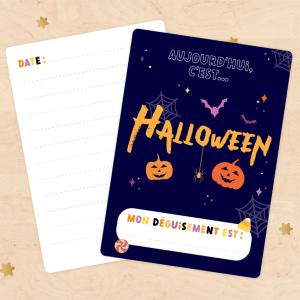 Carte étape pour photo souvenir Halloween - Déguisement
