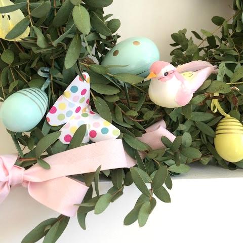 Couronne de printemps / Déco de Pâques