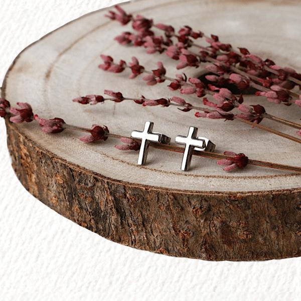 pendientes cruz