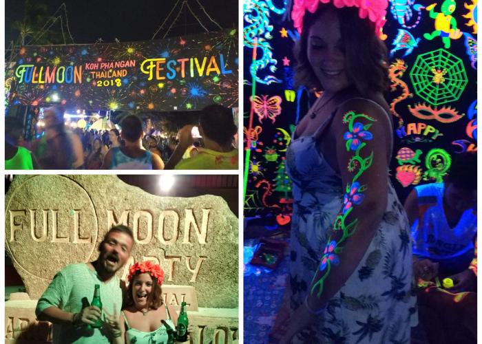 Full moon party. Tailandia