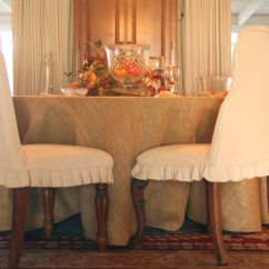 Burlap Chair Covers Tie Dye Bean Bag Tablecloth Dining Table Slipcovers  Mimzy And Company