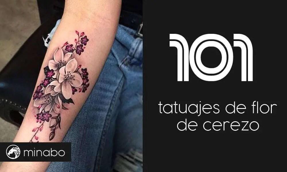 Wow Los 101 Tatuajes De Flor De Cerezo Más Impresionantes