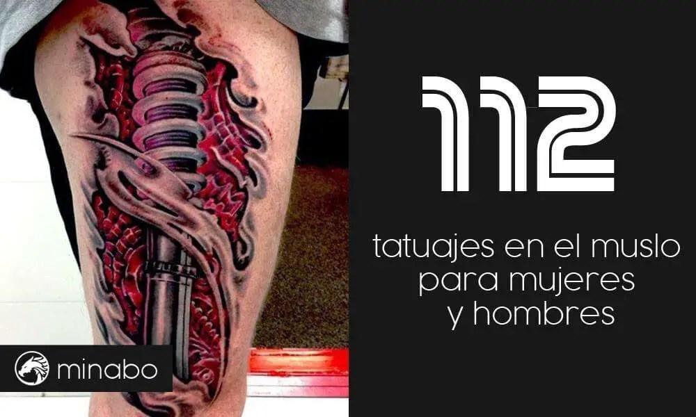 Wow 112 Atractivos Tatuajes En El Muslo Para Mujeres Y Hombres