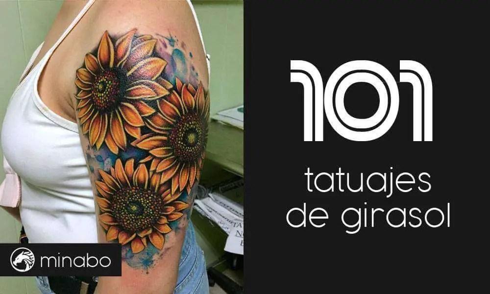 Wow 101 Hermosos Tatuajes De Girasol Para Inspirarte