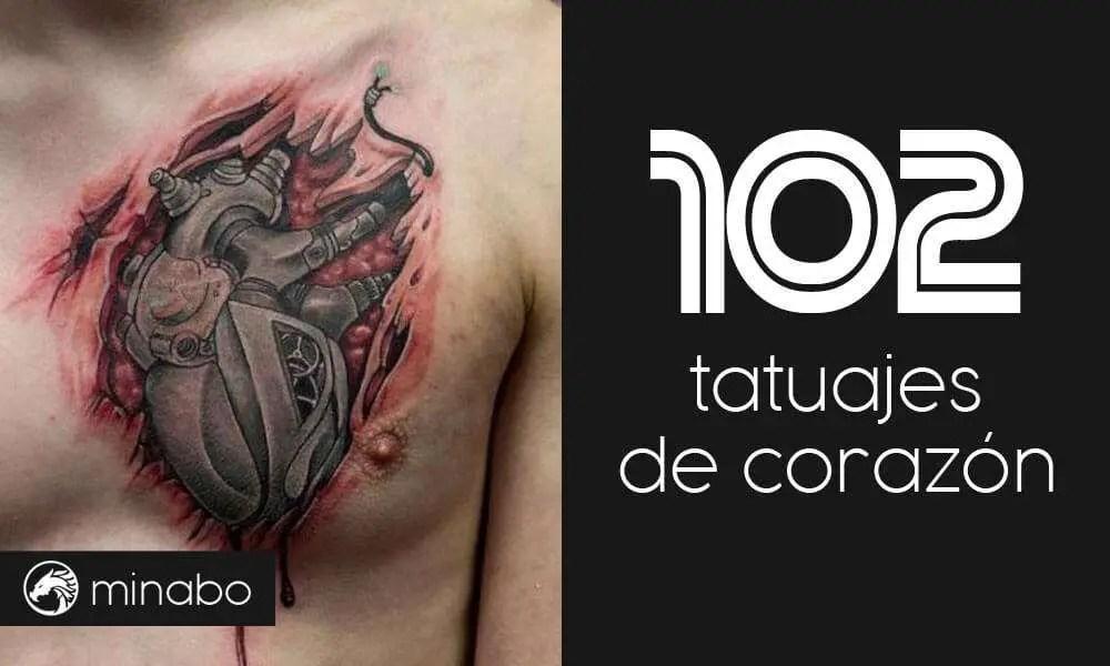 Wow 102 Sensacionales Tatuajes De Corazón Míralos Ahora