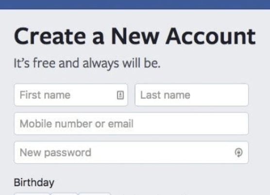 Create Facebook Account