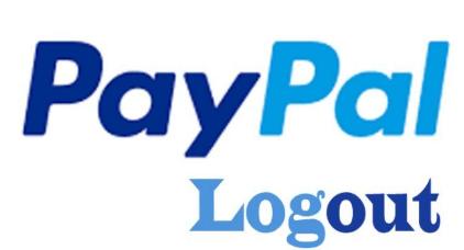 PayPal-Logout