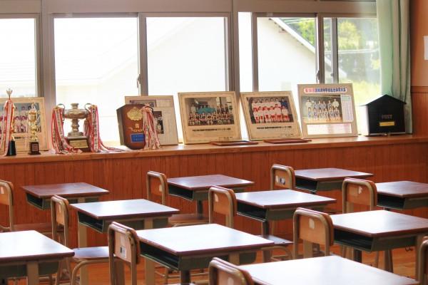 懐かしい教室再現室。