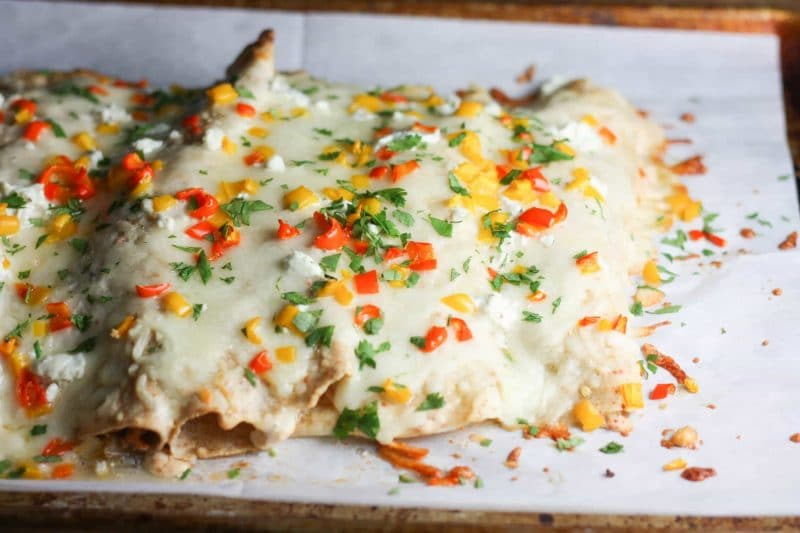 Buffalo Chicken Enchiladas | Delicious enchilada recipe that can be made #keto or #lowcarb! | mincerepublic.com