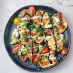 Fried Cheese and Tomato Salad