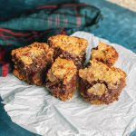 Brown Butter Blondie Brownies with Pretzel Crust and Bourbon Salted Caramel Drizzle