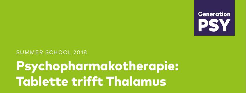 Summer School Psychopharmacology 2018 in Berlin