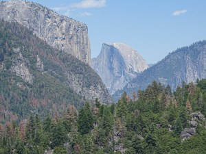 The first view I had of Half Dome.