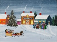 One of Chris' many holiday-themed paintings.