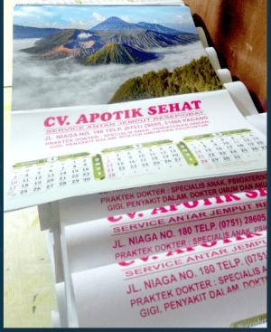 Cetak Kalender Murah Padang