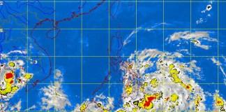 Satellite Image 10:30 p.m., 23 October 2012 . PAG-ASA