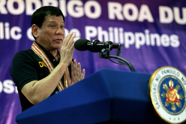 President Rodrigo Roa Duterte addresses the graduates of the Motorcycle Riding Course Class 06-2016 in a ceremony at the Felis Resort Complex in Davao City onDecember 2, 2016. Duterte said Special Assistant Bong Go did not call PNP chief Ronald dela Rosa to reinstate Supt. Marvin Marcos. He later told CNN Philippines he gave the orders to dela Rosa. SIMEON CELI JR./Presidential Photo