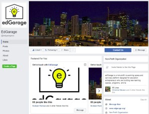 edGarage Facebook page
