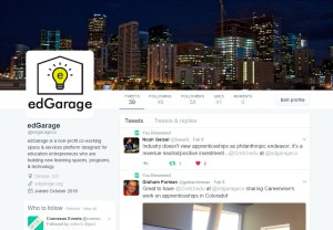 edGarage Twitter profile