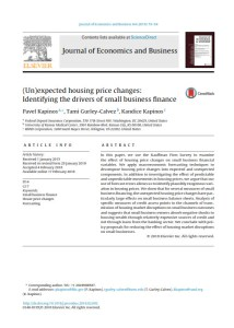 (Un)expected housing price changes