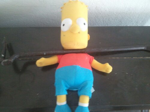 Bart Simpson killed with a crowbar