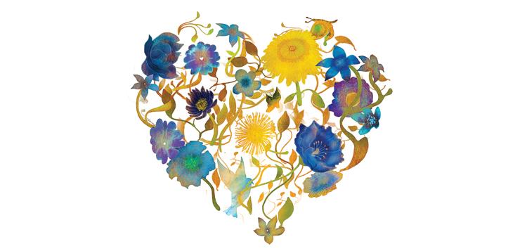 illustration of flower heart