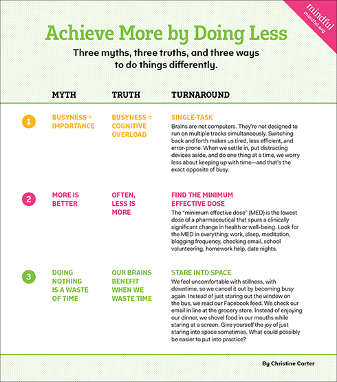 Achieve More By Doing Less