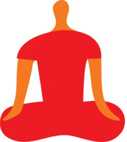 illustration of person seated in meditation
