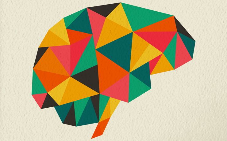 rainbow illustration of brain