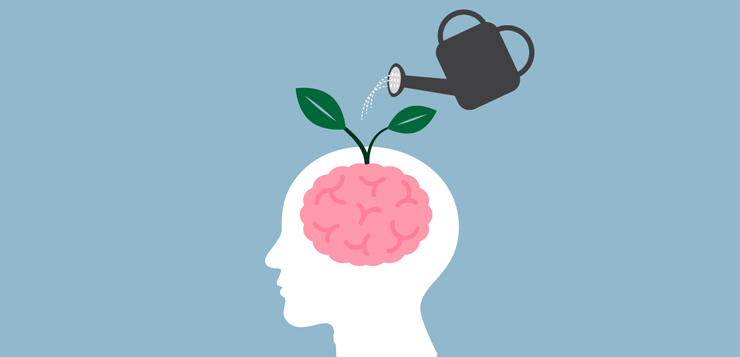 plant growing out of brain