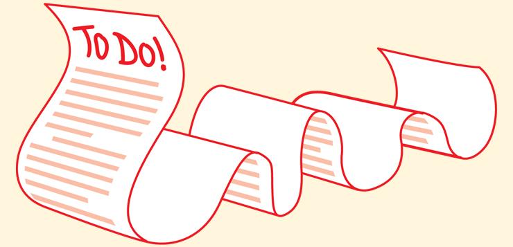 illustration of To Do list