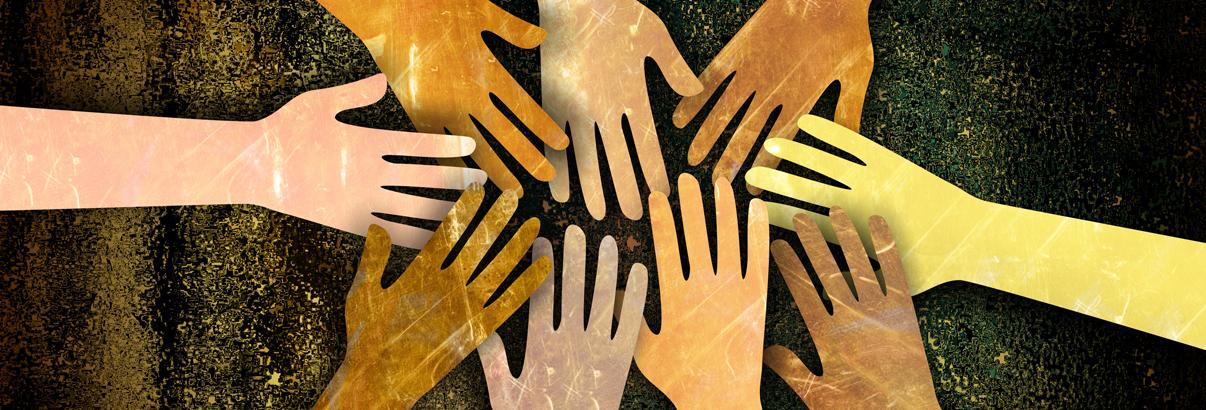 illustration hands holding
