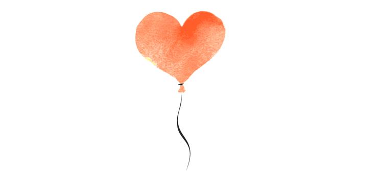 illustration heart balloon