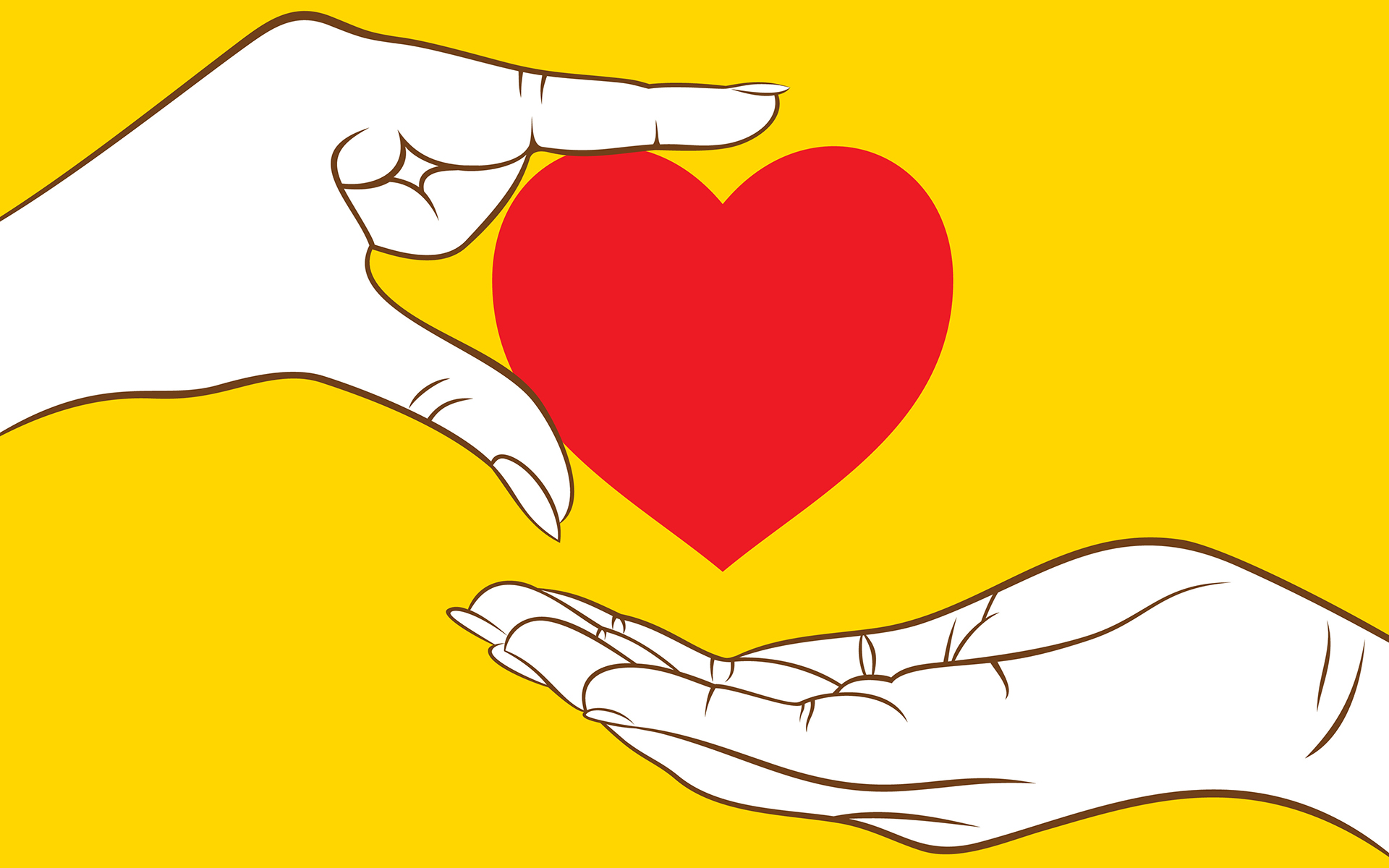 3 Practices to Come Back to Your Heart - Illustration of two hands and a heart