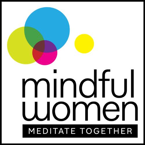 mindful women meditating together