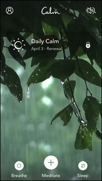 calm app screenshot