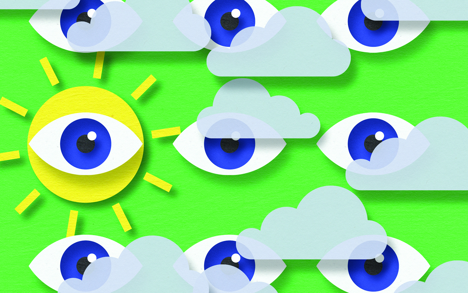 What it Means to Have Clear Vision - Illustrated sun, eyes, clouds,