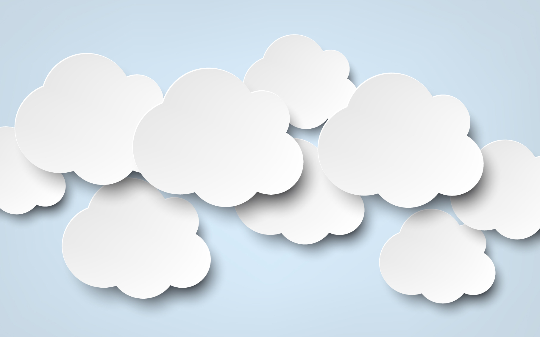 What to do When Thoughts Arise While Meditating - Paper clouds arranged together on a blue background