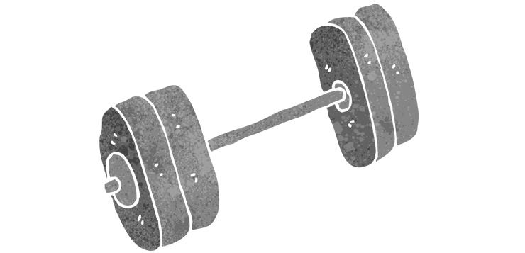 illustration of barbell