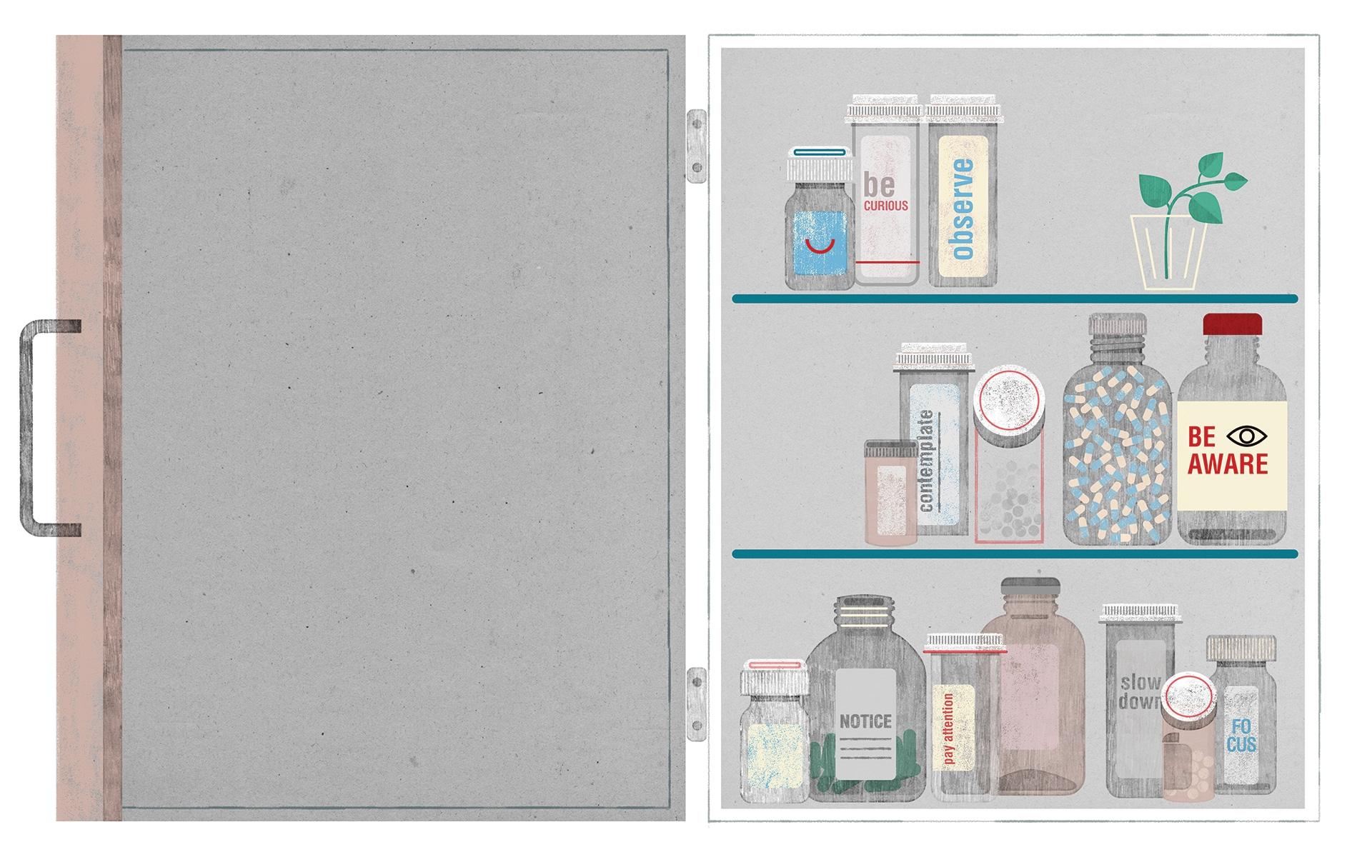 illustration of medicine cabinet